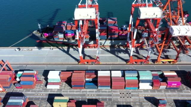 vídeos de stock, filmes e b-roll de industrial harbor - porto distrito