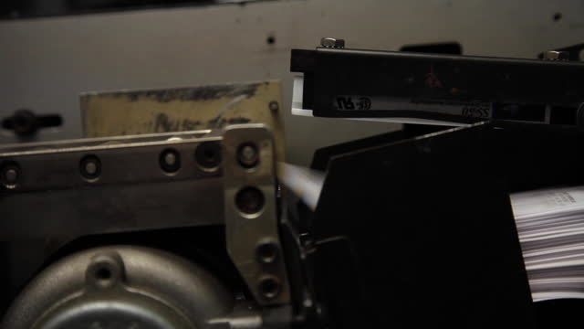 industrial label printing - older machine - machine part stock videos & royalty-free footage