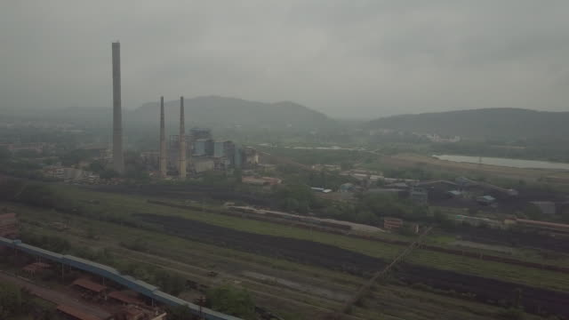 industrial landscape and vedanta factory exterior langigarh odisha india on monday june 17 2019 - mining stock videos & royalty-free footage