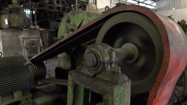 industrial lathe mechanism in manufacturing process - motor stock videos & royalty-free footage