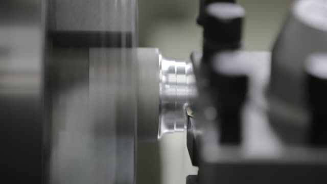 industrial lathe - aluminium stock videos & royalty-free footage