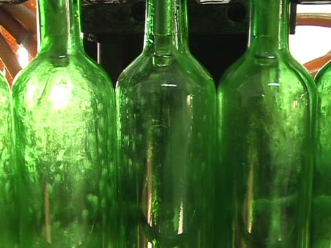 industrial line for bottling wine - stuffed stock videos & royalty-free footage