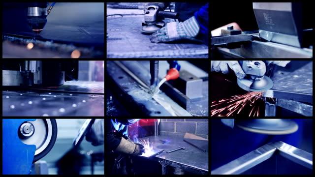 industrial metalwork compilation - metalwork stock videos & royalty-free footage