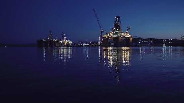 industri oljerigg offshore plattform byggarbetsplats på nordsjön - oljeindustri bildbanksvideor och videomaterial från bakom kulisserna