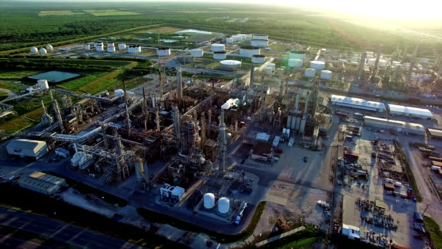 Industrial Petro Chemical Oil Refinery Plant in South Texas