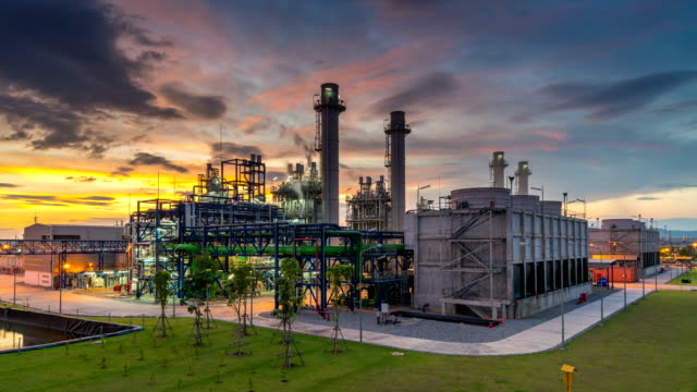 industrial power plant and twilight - safety stock videos & royalty-free footage