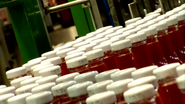 industrial production line 3 of three - ketchup stock videos and b-roll footage