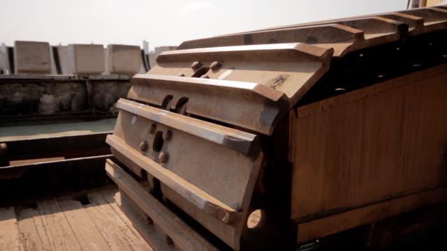 industrial set crane tracks - bulldozer stock videos and b-roll footage