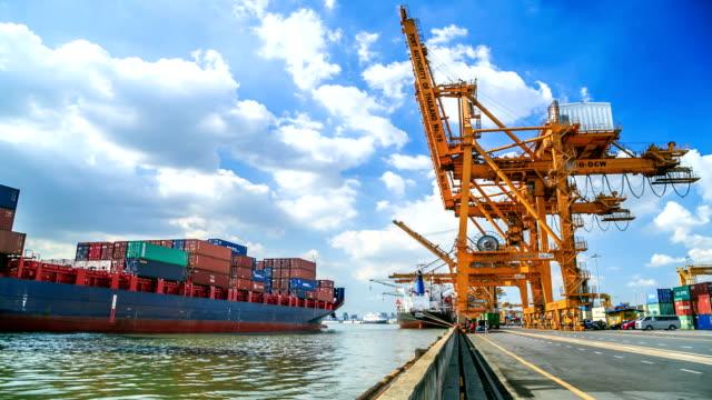 Industrial Ship Parking At Port