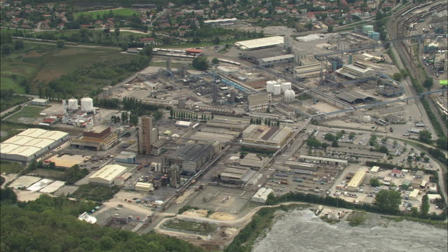 industrial sites south of grenoble - grenoble stock-videos und b-roll-filmmaterial