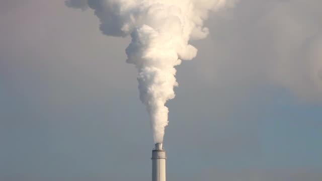 Industrial smokestack