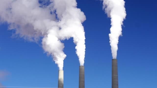 Industrial steam plumes