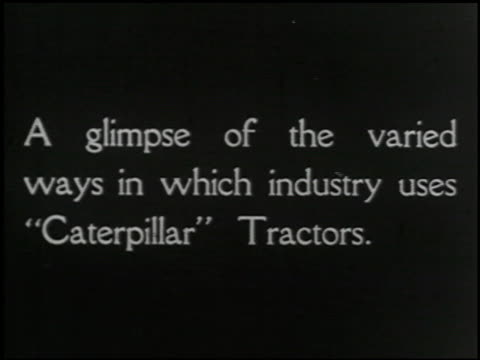 vídeos de stock e filmes b-roll de industrial uses of 'caterpillar' tractors - 1 of 14 - caterpillar inc