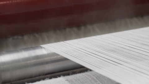 industrial warping and sizing machine in textile factory - textile stock videos & royalty-free footage