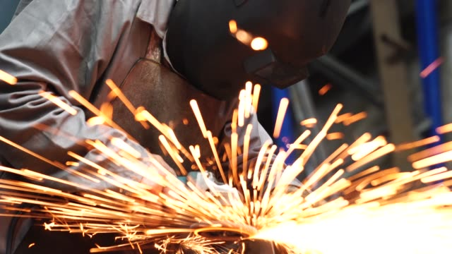 industrial worker welding steel - welding stock videos & royalty-free footage