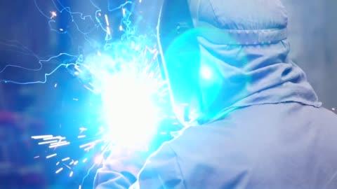 industrial worker welding steel - metal industry stock videos & royalty-free footage