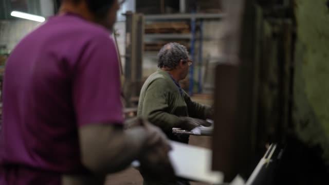 industrial workers working at metallurgy - metallurgy stock videos & royalty-free footage