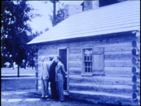 vídeos y material grabado en eventos de stock de industrialist henry ford and the variety clubs of america honor george washington carver african american scientist - michigan