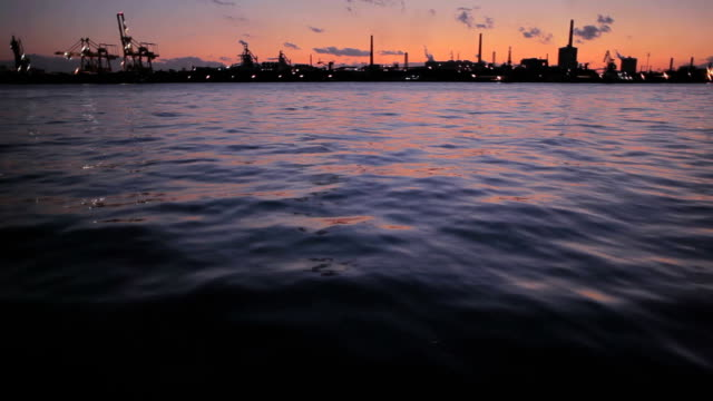 industry and port at sunset - plusphoto stock videos & royalty-free footage