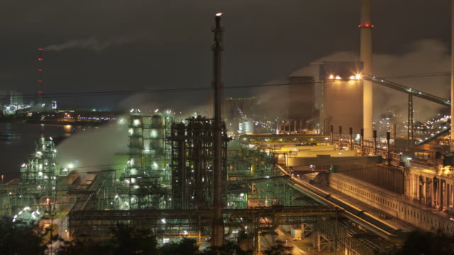 industry at night - gas pipe stock videos and b-roll footage