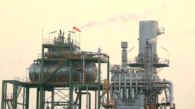 industry boiler at oil refinery plant working - boiler stock videos & royalty-free footage