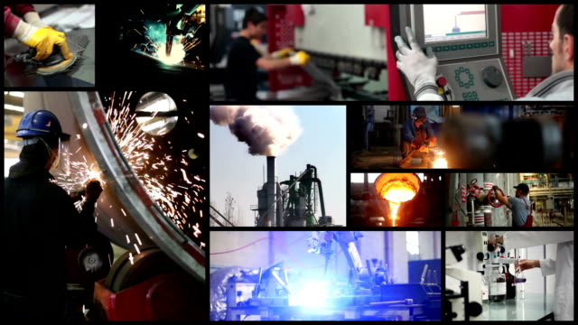 vidéos et rushes de collage de l'industrie - montage