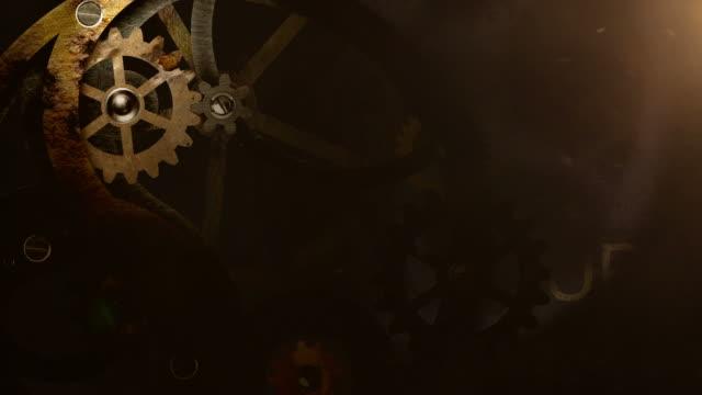 業界ギア背景 hd - 歯車の歯点の映像素材/bロール