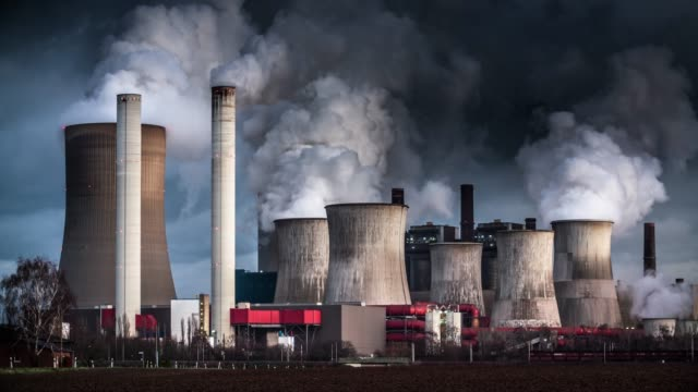 industry pollution - power station stock videos & royalty-free footage