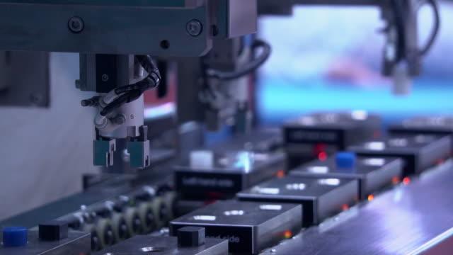 robot del settore - catena video stock e b–roll