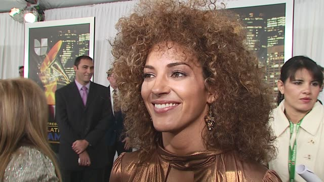 ines gavaria/ nominee- best female pop album ms gavaria wears gucci and talks about her outfit being a throwback to the seventies she talks about new... - latin grammy awards stock videos & royalty-free footage
