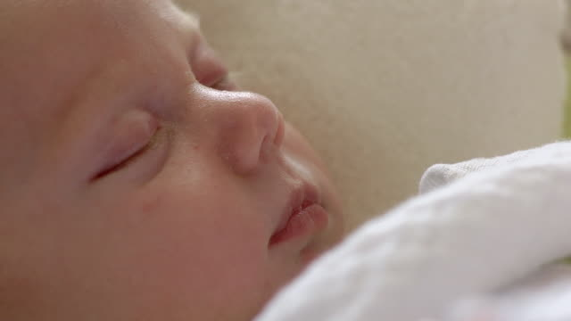 ECU Infant sleeping during nap / Ann Arbor, Michigan, United States