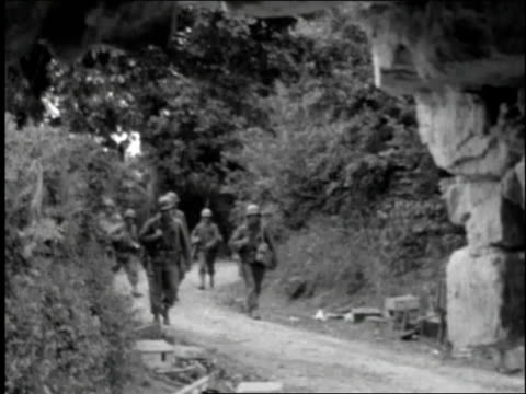 infantry advancing / normandy, france - infantry stock videos & royalty-free footage