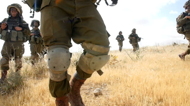 infantry brigade army soldiers in training, israel idf / slow motion - israeli military stock videos & royalty-free footage
