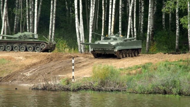 Infantry Fighting Vehicle Crossing River