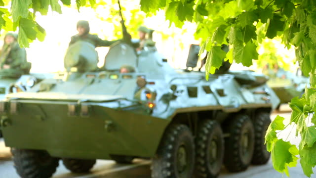 infantry fighting vehicle on the streets - armoured vehicle stock videos and b-roll footage