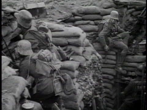 wwi infantry montage - trench stock videos & royalty-free footage