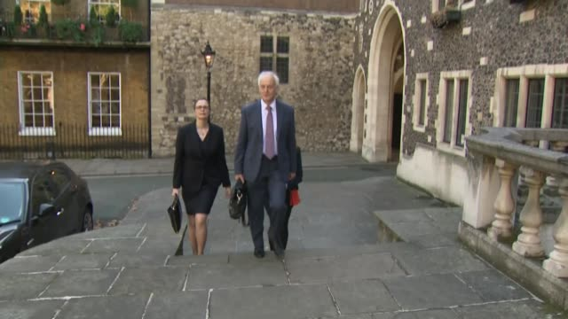 infected blood inquiry: opening day: sir brian langstaff arrival; england: london: ext sir brian langstaff arriving at church house. - infectious disease stock videos & royalty-free footage