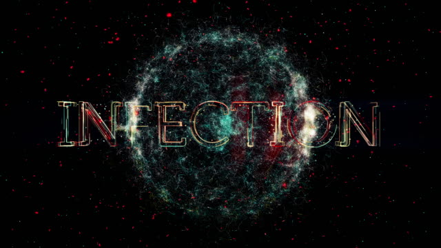 infection title animation - parasitic stock videos & royalty-free footage