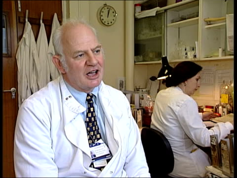 mrsa infections in hospital itn london university college hospital int dr geoff scott interview sot talks of overcrowding in hospitals leading to... - mrsa stock videos and b-roll footage