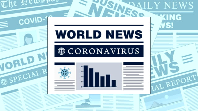 infectious coronavirus also known as covid-19 newspapers with breaking news headlines - newspaper headline stock videos & royalty-free footage