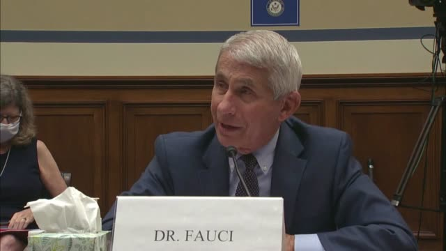 infectious disease expert anthony fauci testifies before the coronavirus select investigative subcommittee that he did not believe vaccines will be... - united states department of defense stock videos & royalty-free footage