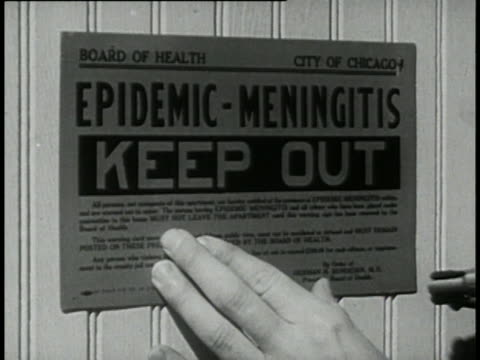 1946 - infectious diseases and quarantine - diphtheria stock videos & royalty-free footage