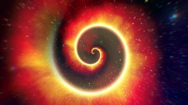 sfondi spaziali galaxy loopable infinito - fantasy video stock e b–roll