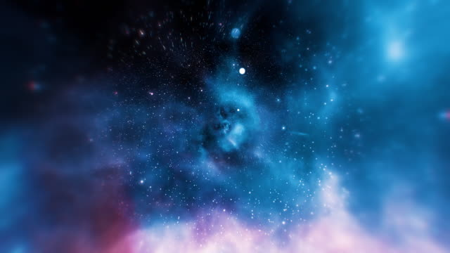 vídeos de stock e filmes b-roll de infinity loopable galaxy space backgrounds - via láctea