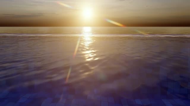 vídeos de stock, filmes e b-roll de piscina infinita - lago infinito