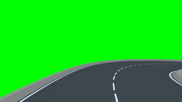 Infinity road (Isolated on a green background)