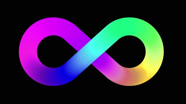 vídeos y material grabado en eventos de stock de animación del logotipo de símbolo infinito - ícono
