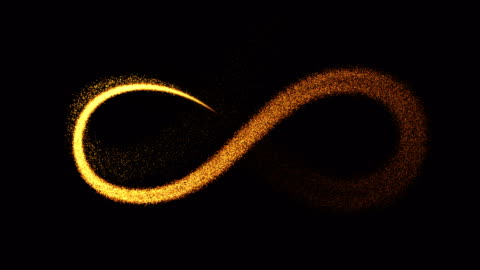 infinity symbol (loop 4k + alpha). particles fireworks slow motion - symbol stock videos & royalty-free footage