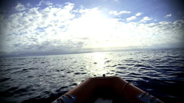 inflatable boat at sea - dinghy stock videos & royalty-free footage