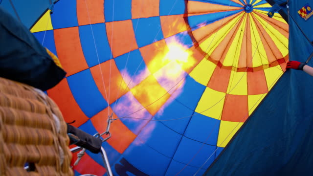 ms inflating a hot air balloon - hot air balloon stock videos & royalty-free footage